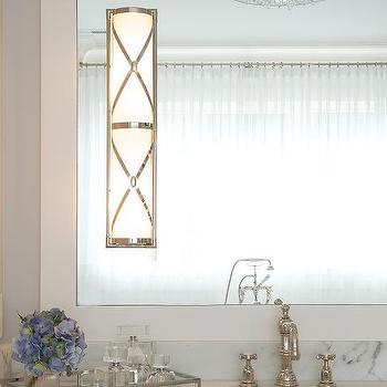 Bathroom with Robert Abbey Chase Sconce, Transitional, Bathroom