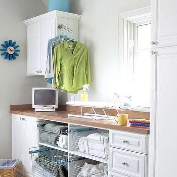 Wire Laundry Room Pull Out Baskets, Transitional, Laundry Room
