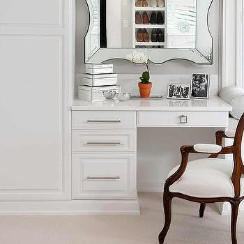 Closet With Built In Dressing Table