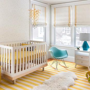 Yellow Nursery Design, Transitional, Nursery