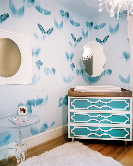 Captivating Turquoise Changing Table