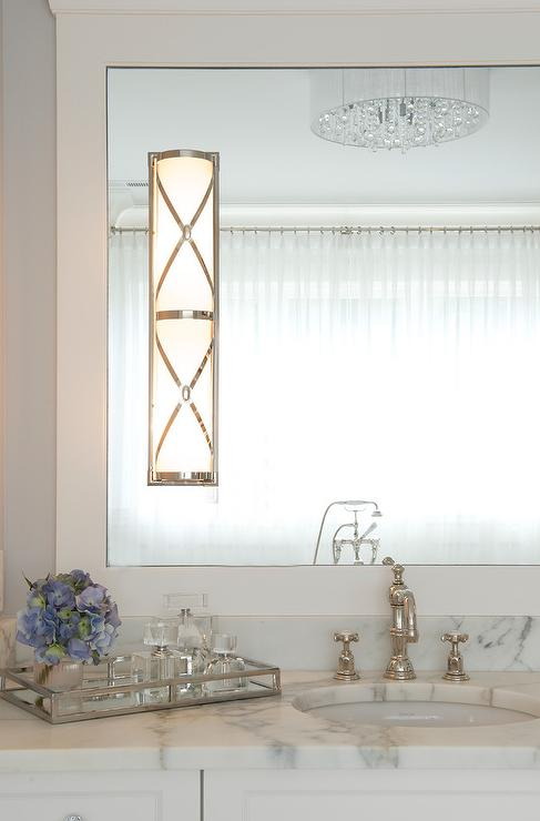 Bathroom With Robert Abbey Chase Sconce Transitional