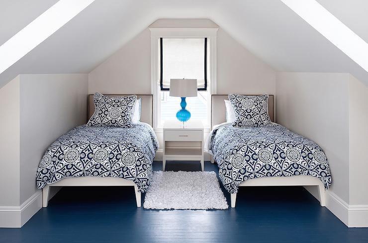 Shared Attic Bedrooms - Transitional - Bedroom