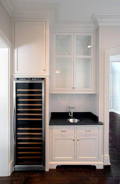 Butler Pantry With Integrated Wine Cooler Transitional