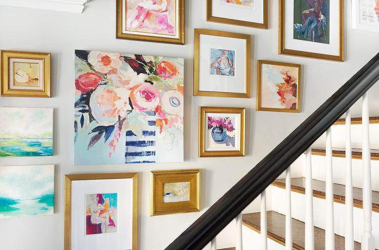 Ideas For Wall Decor On Stairs : Gallery wall design decor photos pictures ideas