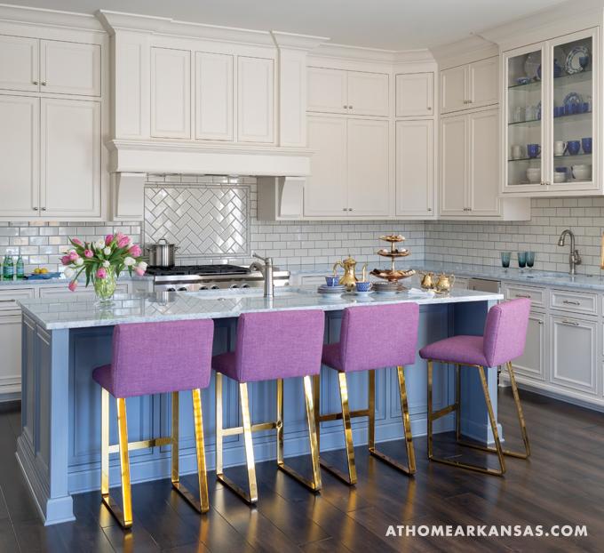 Paneled Kitchen Island Transitional Kitchen
