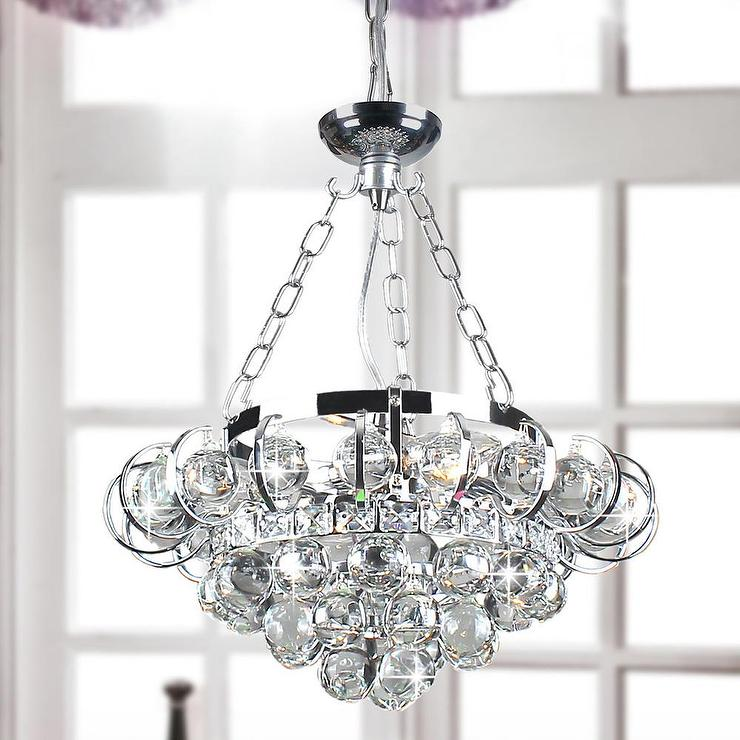 Four light chrome and crystal chandelier joanne four light chrome and crystal chandelier mozeypictures Images