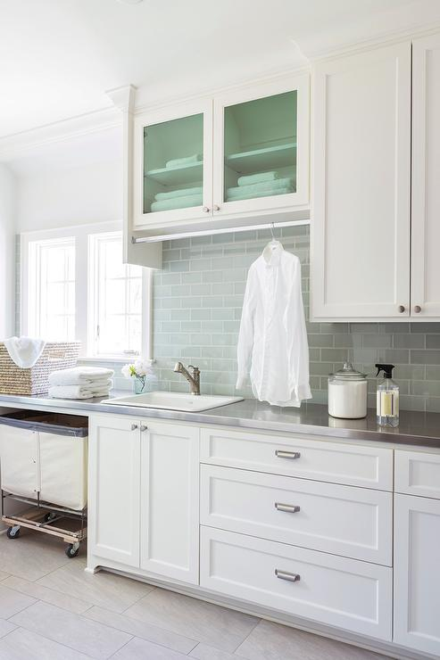 laundry room with stainless steel countertops