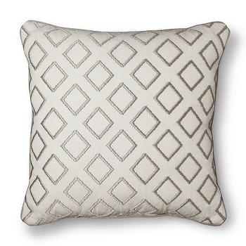 Room Essentials Geometric Embroidered Toss Pillow