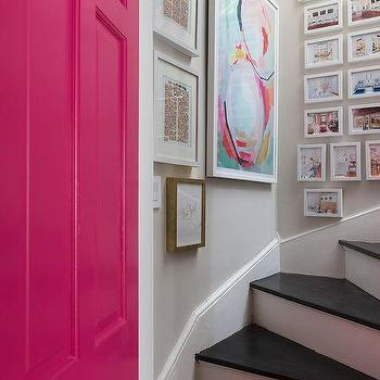 Hot Pink Front Door, Contemporary, Entrance/foyer