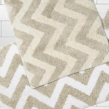 Kassatex Linen Chevron Bath Rugs
