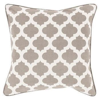 Morrocan Printed Lattice Toss Pillow