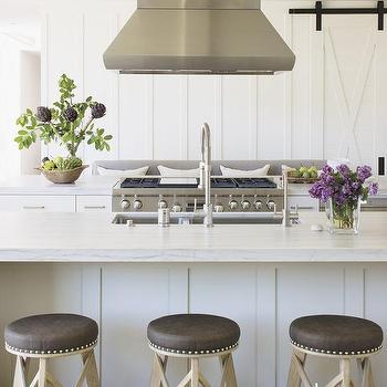 Parallel Kitchen Islands, Cottage, Kitchen