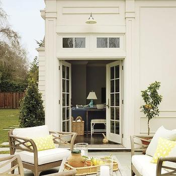 Patio with Yellow Accents, Transitional, Deck/patio