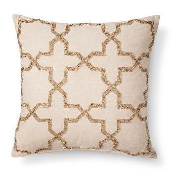 Persian Star Beaded Toss Pillow