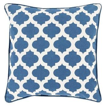 Moroccan Printed Lattice Toss Pillow