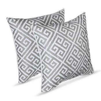 Threshold Two Pack Square Greek Key Pillows