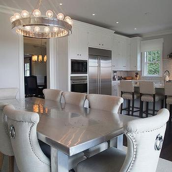 Stainless Steel Dining Table, Transitional, Kitchen