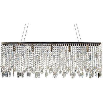 Antique Brass Suspension Linear Chandelier