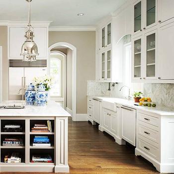 Island Cookbook Shelves, Transitional, Kitchen