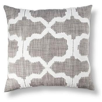 Threshold Geometric Applique Pillow