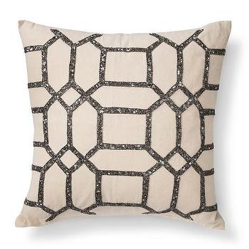 Hexagon Beaded Toss Pillow