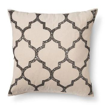 Trellis Beaded Toss Pillow