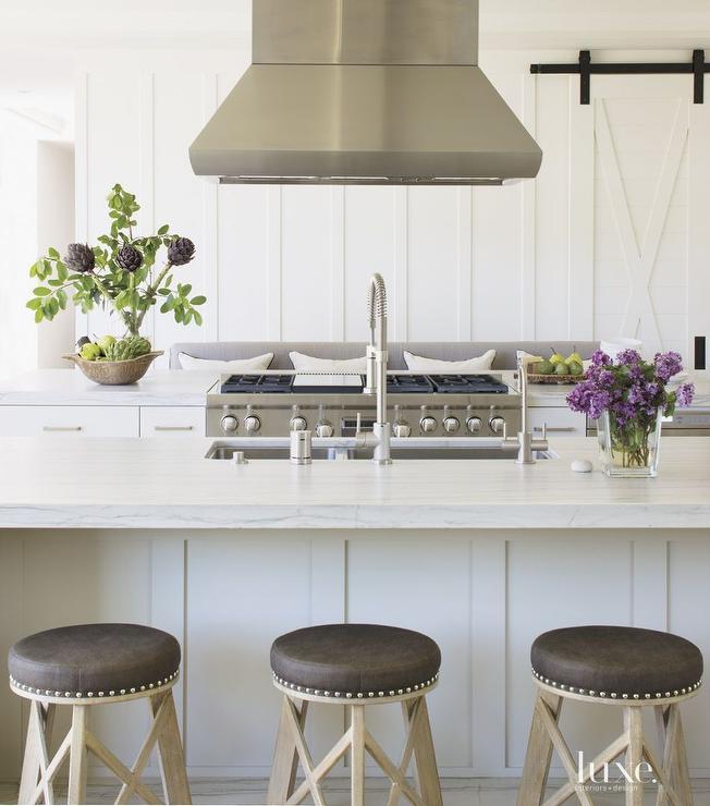 Parallel Kitchen Islands Cottage Kitchen