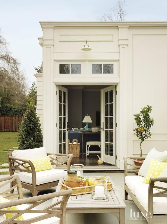 Patio With Yellow Accents