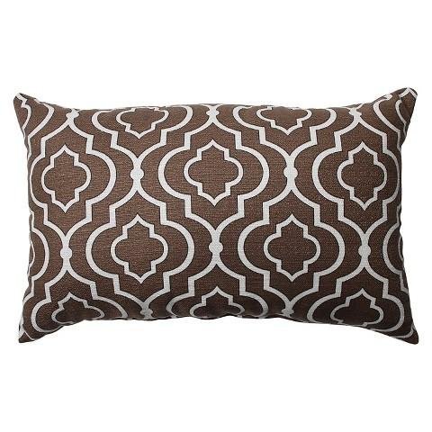 Pillow Perfect Donetta Brown and White Toss Pillow