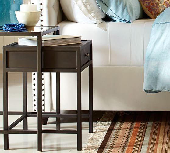 Curiosity Brown Nesting Bedside Tables - Nesting table with drawer