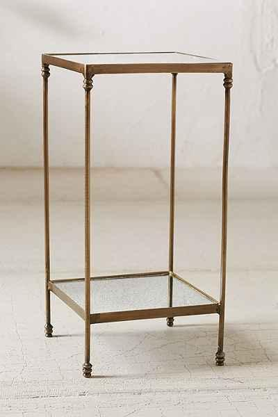 Georgina Speckled Mirror Bronze Side Table