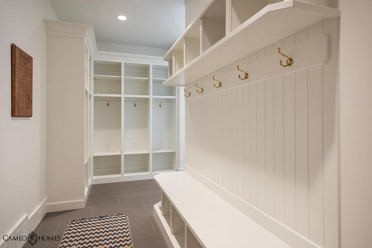 Blue Mudroom Runner Design Ideas
