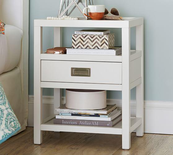 Compact Bedside Tables white bedside table