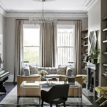 Lucite Desk, Contemporary, Living Room