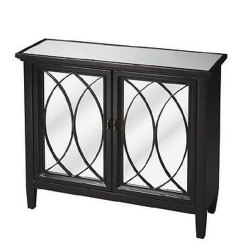 Hand Rubbed Plum Black Console with Mirror Top