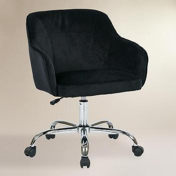 Black Velvet Jozy Home Office Chair