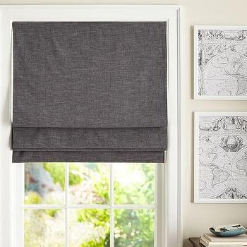 Emery Linen and Cotton Cordless Roman Shade