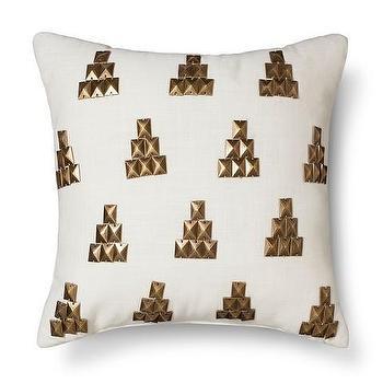 Nate Berkus Metallic Stud Pillow