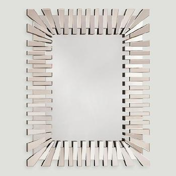 Silver Metal Gears Rectangular Mirror
