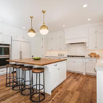 White Kitchen Island With Butcher Block Top white kitchen island with butcher block top - transitional - kitchen