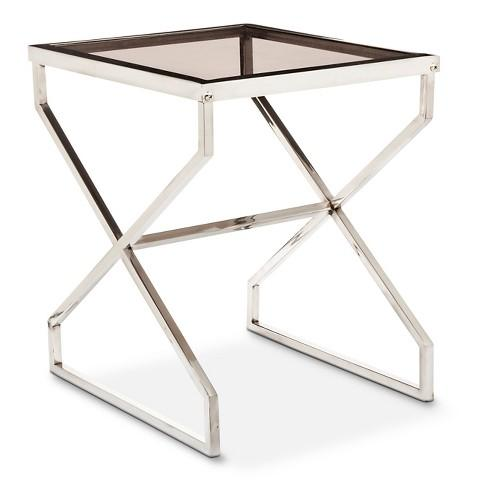 Stupendous Nate Berkus Silver And Smoked Glass Accent Table Lamtechconsult Wood Chair Design Ideas Lamtechconsultcom
