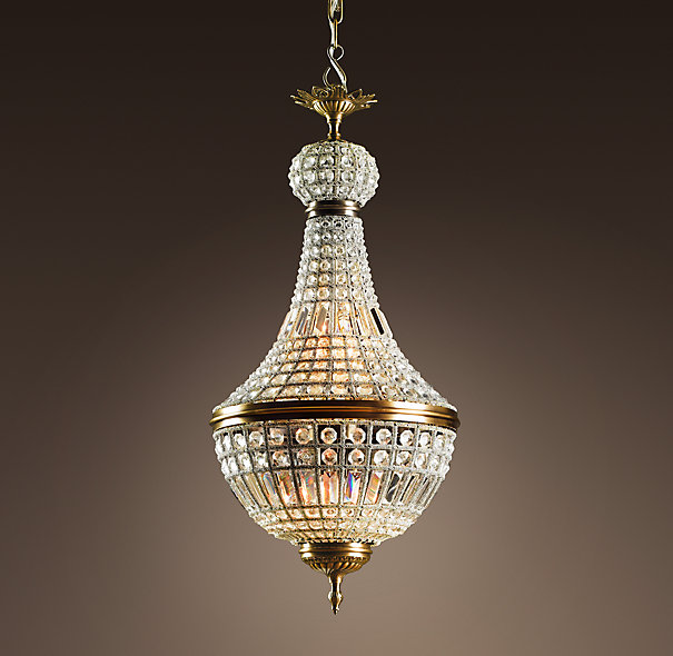 Restoration Hardware French Empire Crystal Chandelier Look for Less
