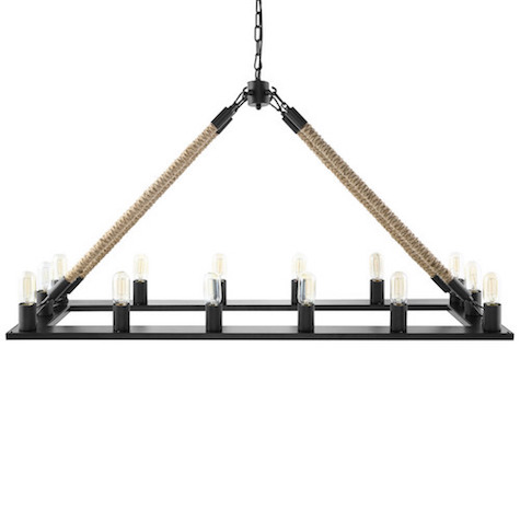view full size  sc 1 st  Decorpad & Restoration Hardware Rope Filament Rectangular Chandelier Look for ... azcodes.com