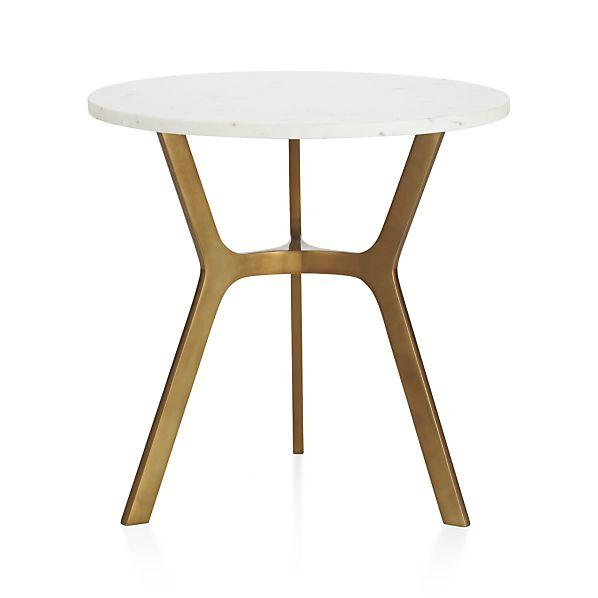 Elke Gold And White Side Table