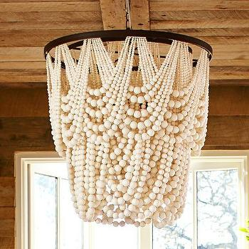 Amelia Indoor or Outdoor Wood Bead Chandelier
