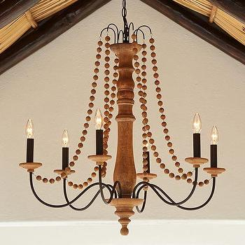 Evelyn Indoor or Outdoor Wood Chandelier