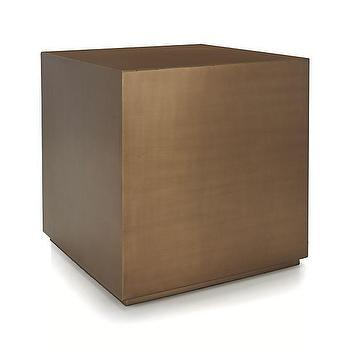 Patina Brass Cube