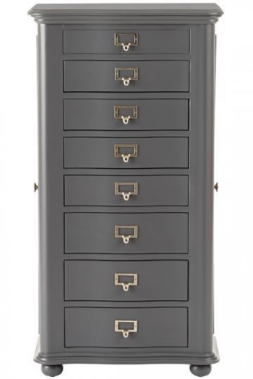 Black Circles Mirrored Doors Jewelry Armoire
