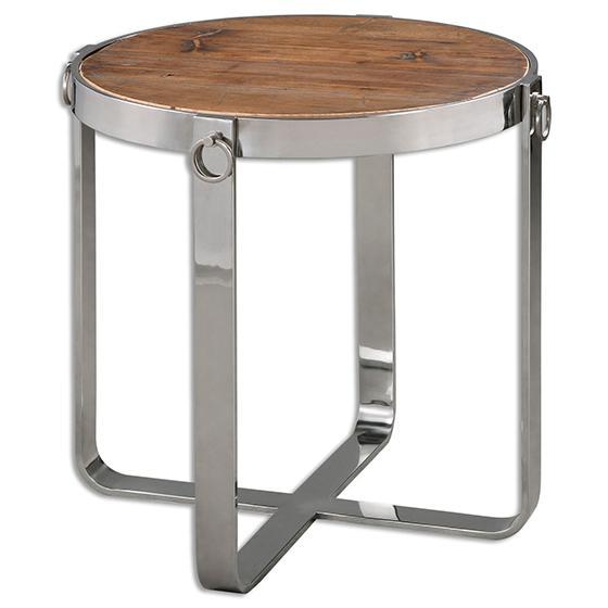 Abelena Silver End Table. Silver End Table
